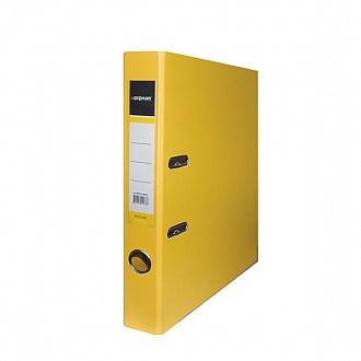 Папка архивная 55мм А4 желтая,PVC,прозр.карман,металл.уголки, inФОРМАТ