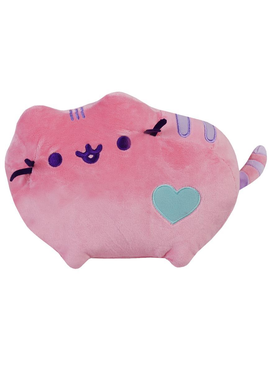Котик Pusheen с сердечком розовый (средний)