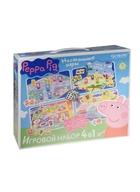 Настольные игры 4 в 1 Peppa Pig (Сладкая жизнь, День Подарков, Эмоции и Действия, Найди Клад) (Peppa Pig) (3+) (коробка) (Origami)