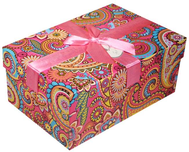 """Коробка подарочная """"Розовые огурцы"""", 18*13*9см"""