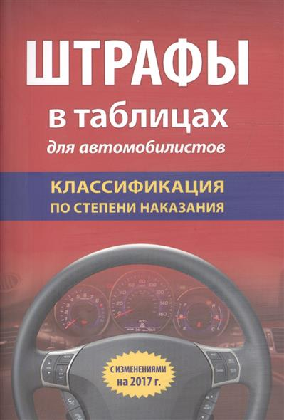 Штрафы в таблицах для автомобилистов. Классификация по степени наказания. С изменениями на 2017 г.