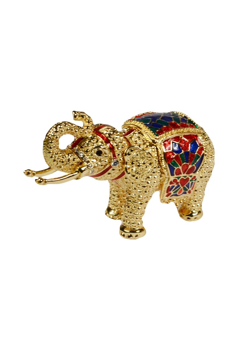 Шкатулка Слон (цв.золото)