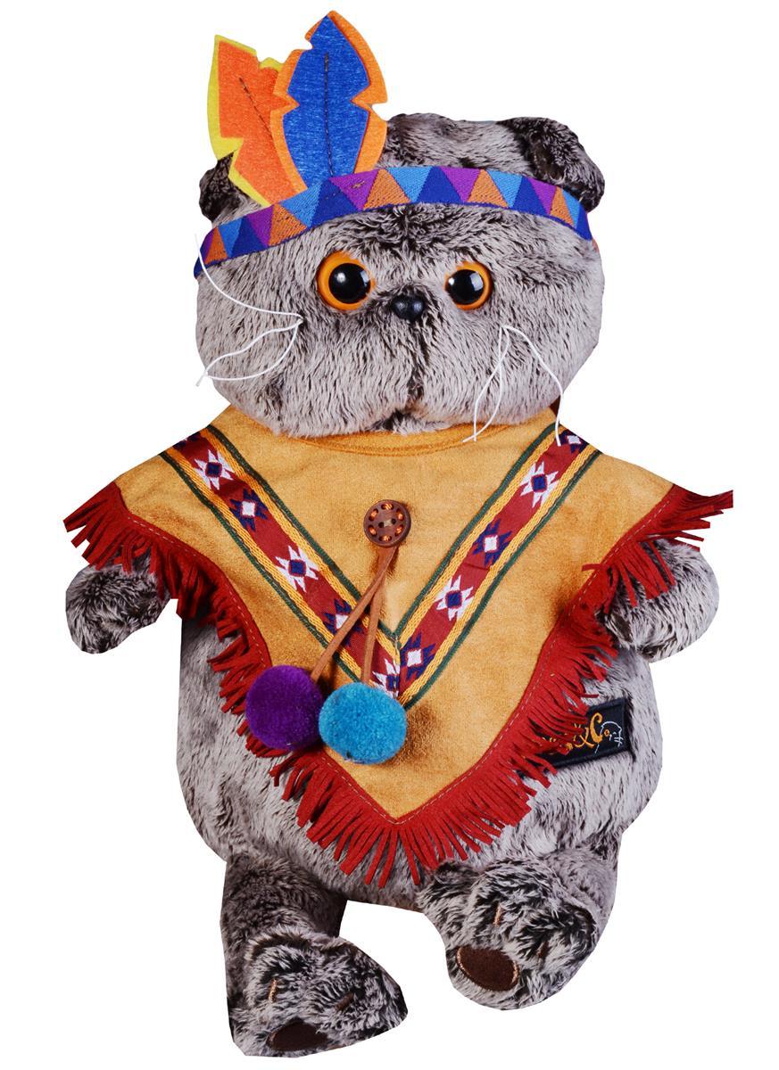 Мягкая игрушка Басик в костюме индейца (25 см)