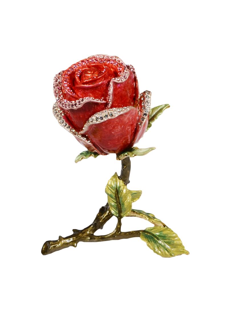 Шкатулка Роза бутон (цв.красный)