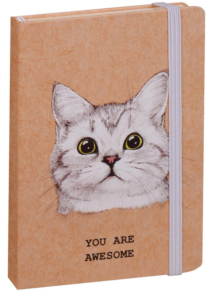 """Книга для записей """"Awesome cat"""" А6, 96 листов, линейка"""