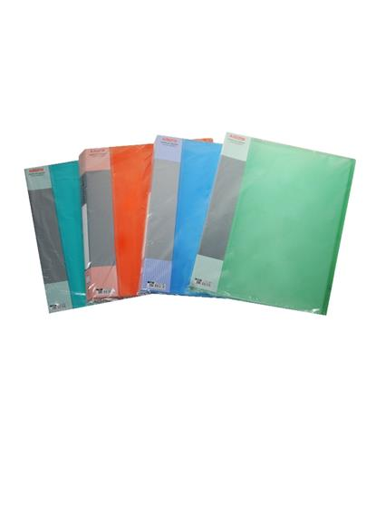 Папка 60ф А4 пластик 0,7мм, полупрозрачная, ассорти, Berlingo