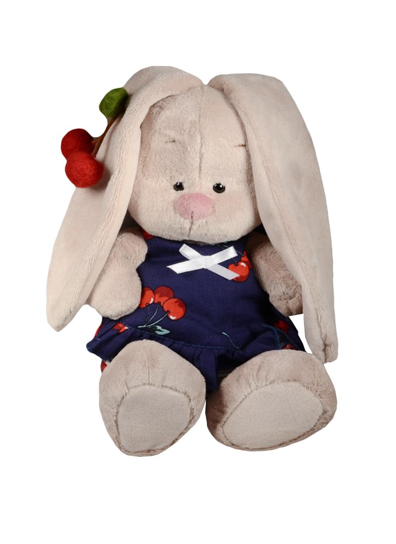Мягкая игрушка Зайка Ми в костюмчике и с войлочной вишней (18 см) (SidS-164)