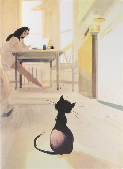 """Тетрадь """"Black cat"""" в обложке, 60л"""