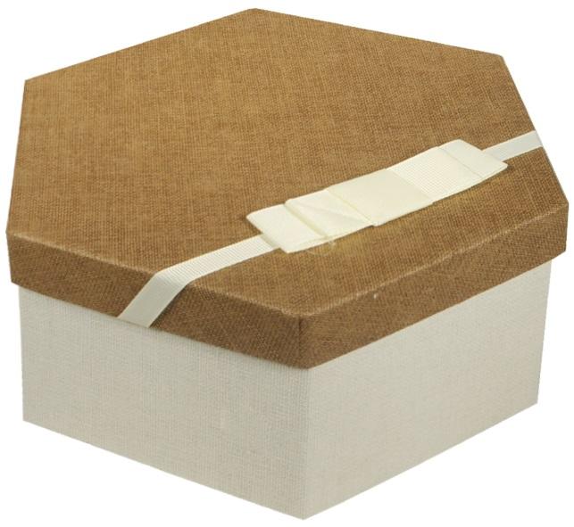 """Коробка подарочная """"Тёмный лён"""", 16*13,8*7см"""