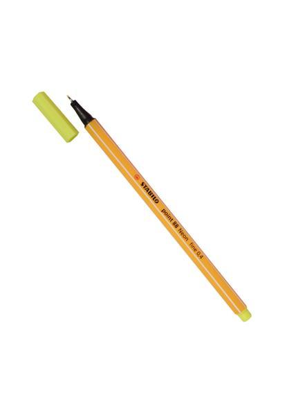 Ручка капиллярная желтая неон