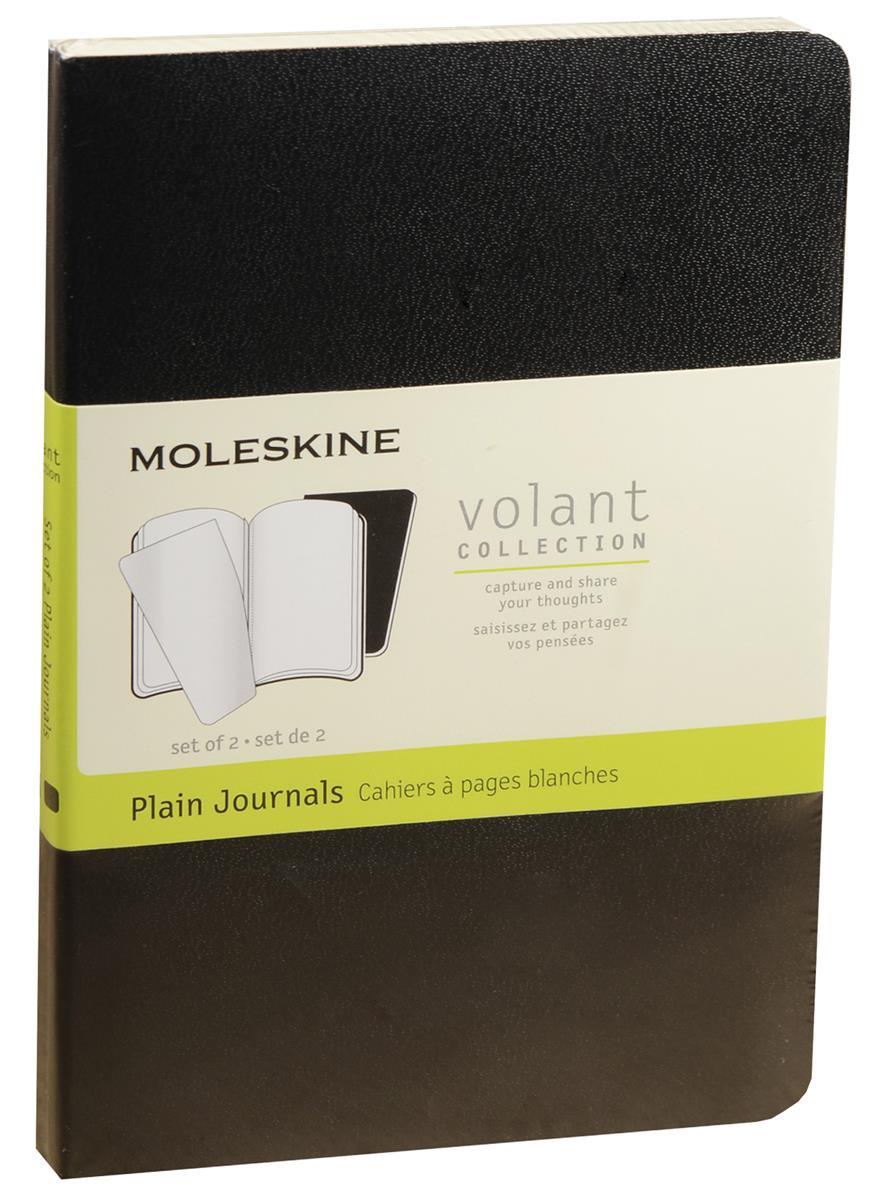 """Записная книжка А6 40л нелин. """"Volant Pocket"""" (2шт.) черная, мягкая обложка, Moleskine"""