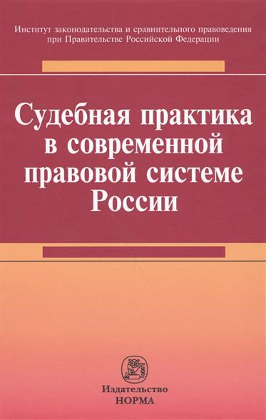 Судебная практика в современной правовой системе России. Монография