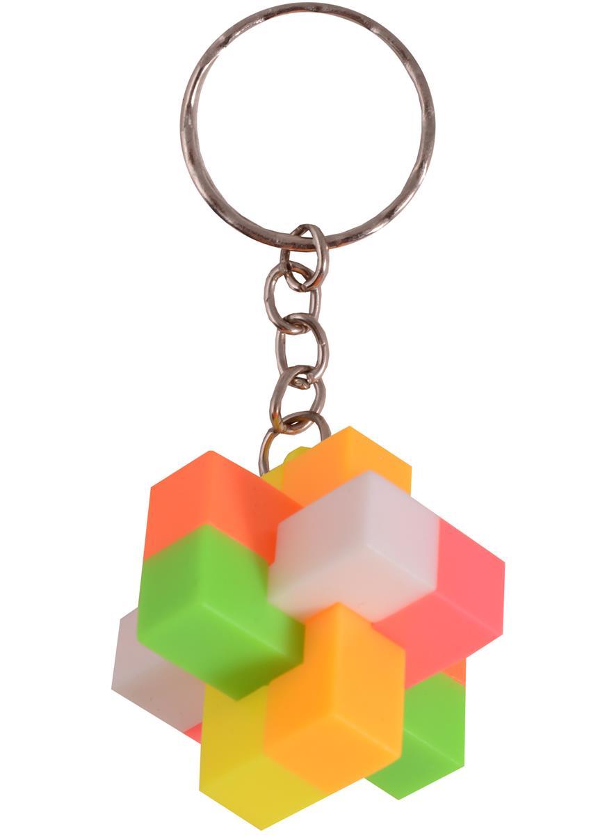 Брелок головоломка Крест (пластик)