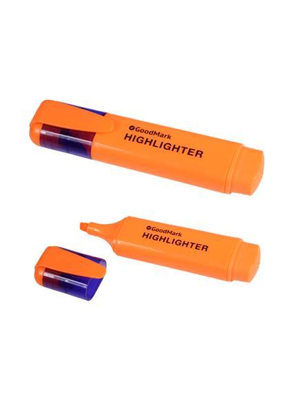 Текстовыделитель  оранжевый 1-5мм, флюор., GoodMark