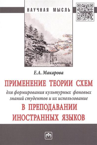 Макарова Е. Применение теории схем для формирования культурных фоновых знаний студентов и их использование в преподавании иностранных языков