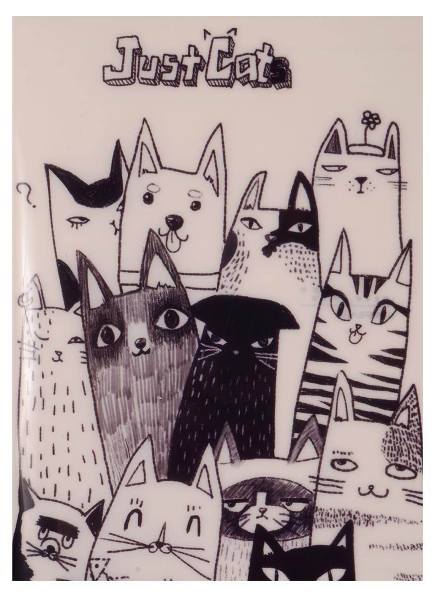 """Тетрадь В5 40 листов линейка """"Just cats"""""""