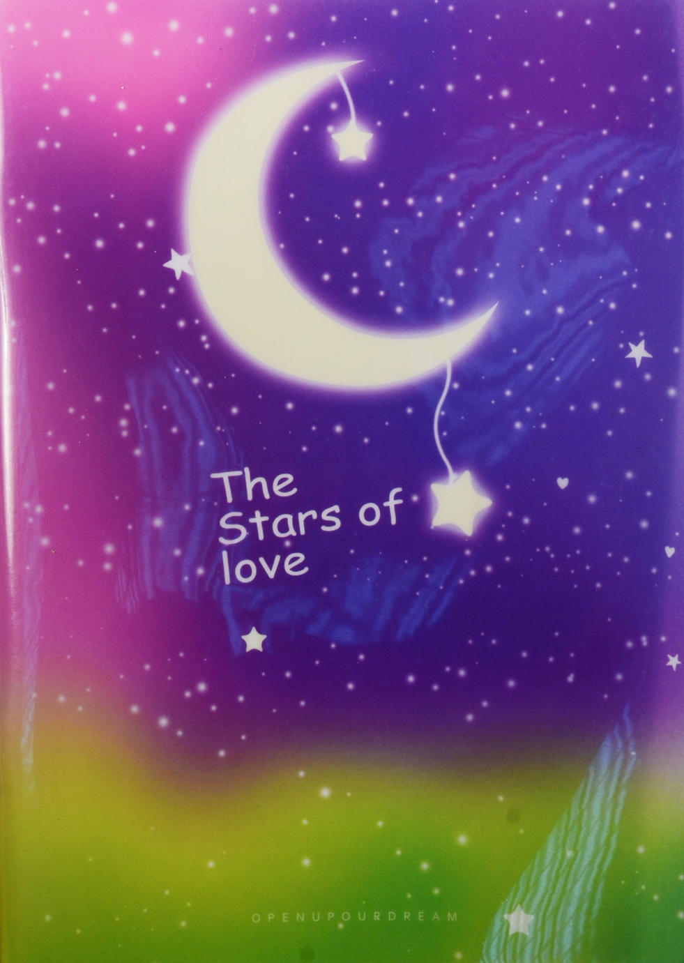 "Тетрадь ""The stars of love"", 40л, кл."