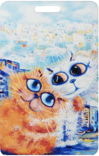 "Чехол для карточек ""Cat in the City: Обнимушки"""