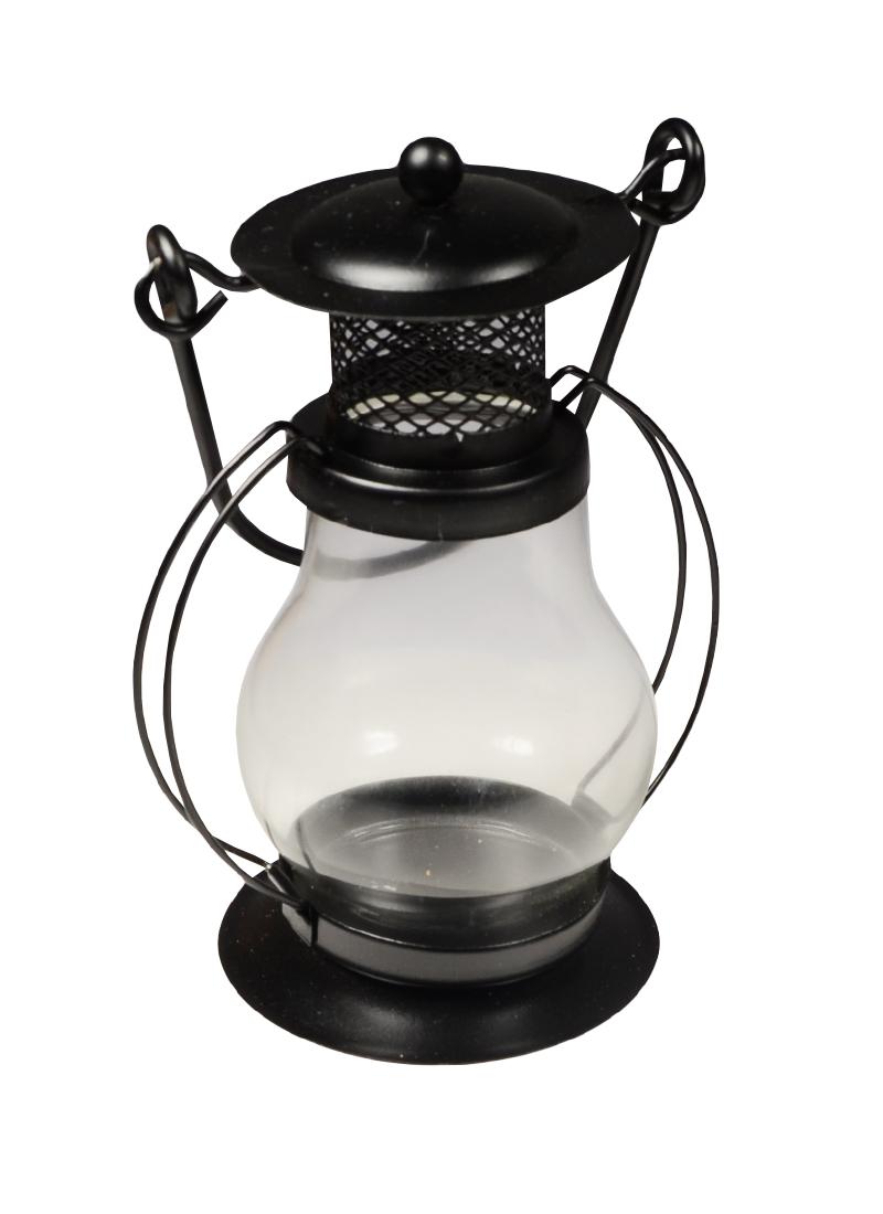 Подсвечник Керосиновая лампа (металл, стекло) (13х9)
