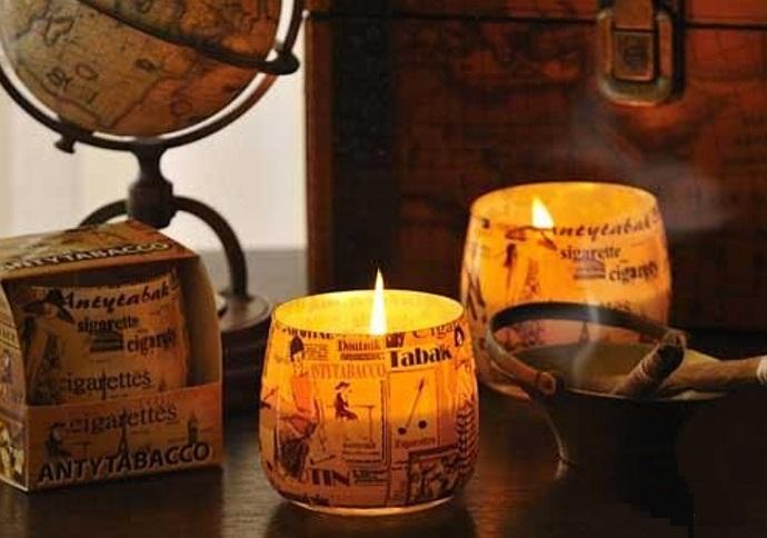БАРТЕК СВЕЧИ  Ароматизированная свеча в стакане Антитабак (Antytobacco)