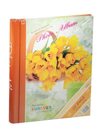 Фотоальбом магнитный 10 листов Желтые тюльпаны в корзине (24х29)