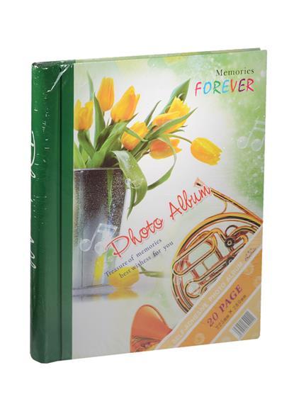 Фотоальбом магнитный 10 листов Желтые тюльпаны в вазе (24х29)