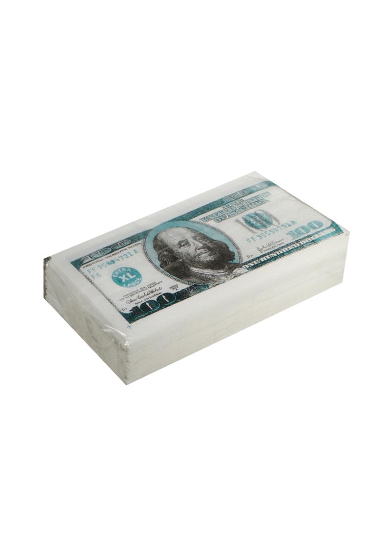 Бумажные салфетки 100$ (2-х слойные) (Филькина Грамота)