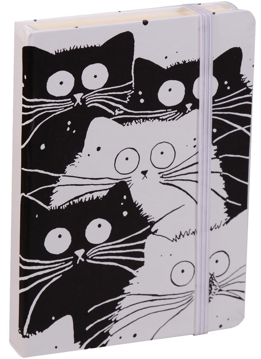 """Книга для записей """"Black&white cats"""" А6, 96 листов, клетка"""
