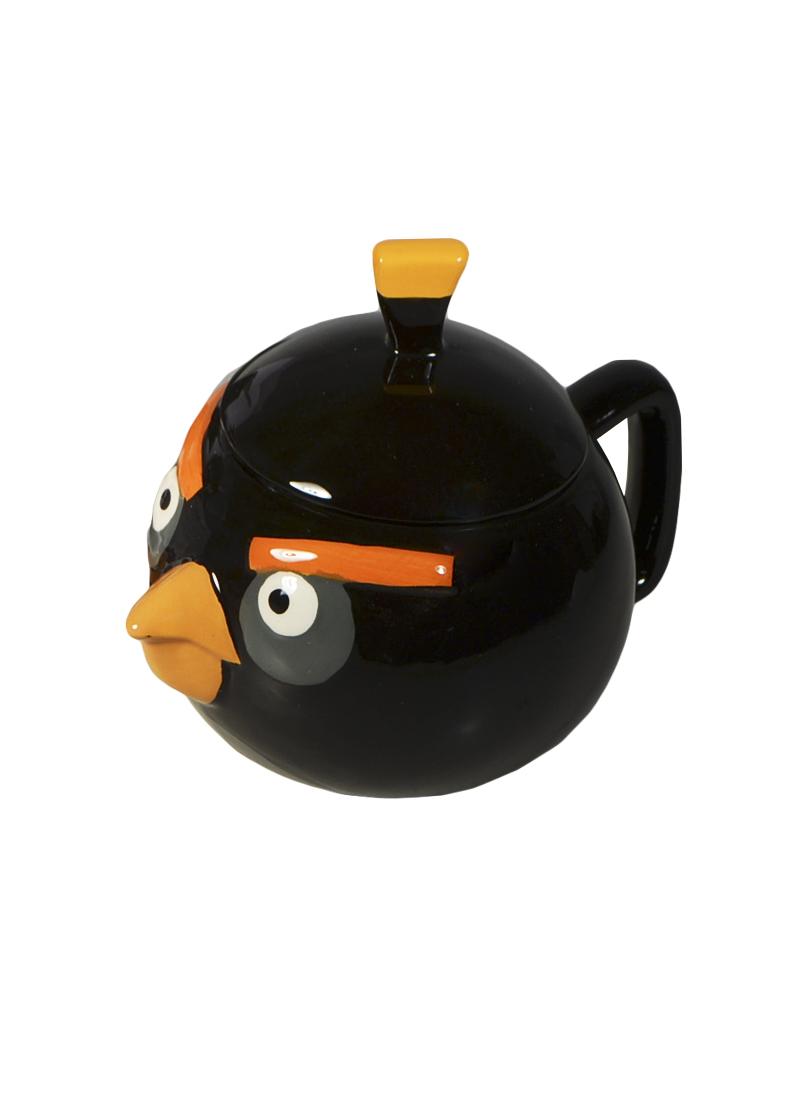 Angry Birds Кружка объемная с крышкой Черная птица (доломит) (СР Дистрибуция)