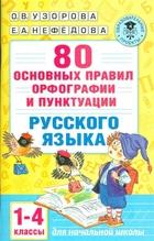 80 основных правил орфографии и пунктуации русского языка. 1-4 классы для начальной школы