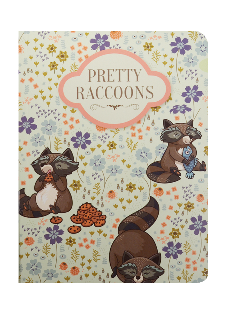 Блокнот Pretty Raccoons