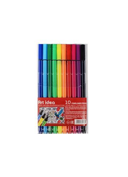 Ручки капиллярные 10цв 0,5мм, блистер, Art idea