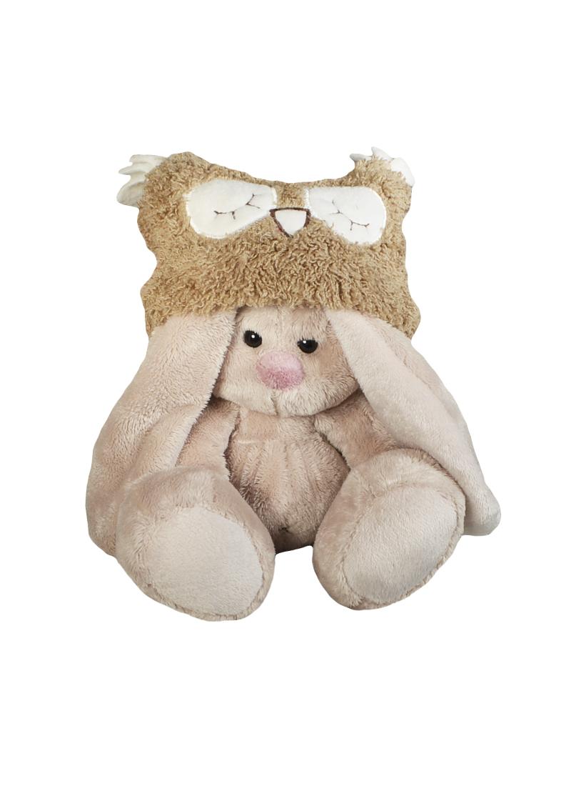Мягкая игрушка Зайка Ми в шапке-сове (15см) (SidX-076) (Буди Баса)