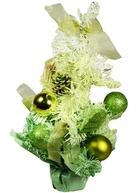 Елка декоративная с украшениями, 30 см, салатовая