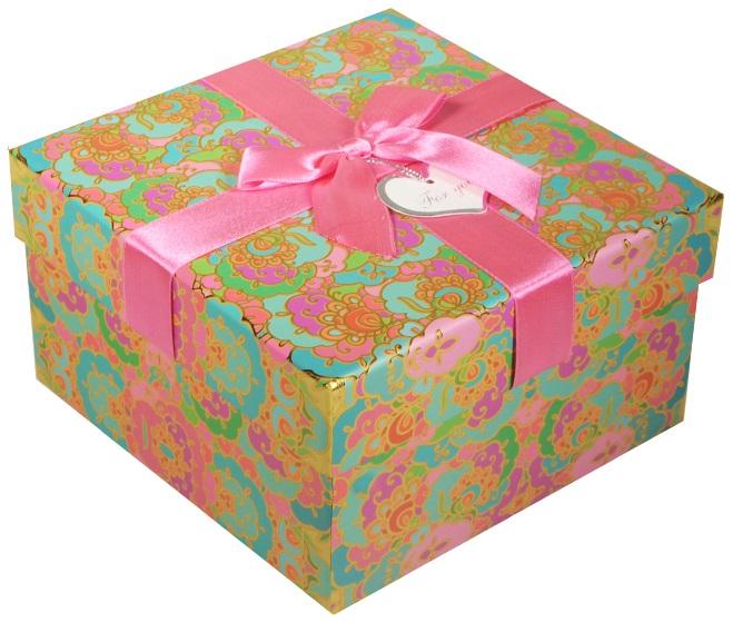 """Коробка подарочная """"Орнамент"""" бирюзовая, 15*15*8,5см"""
