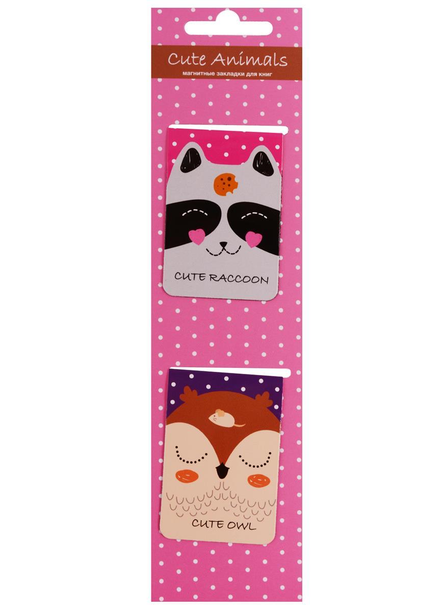 Магнитные закладки Cute Animals (розовая) (2 шт)
