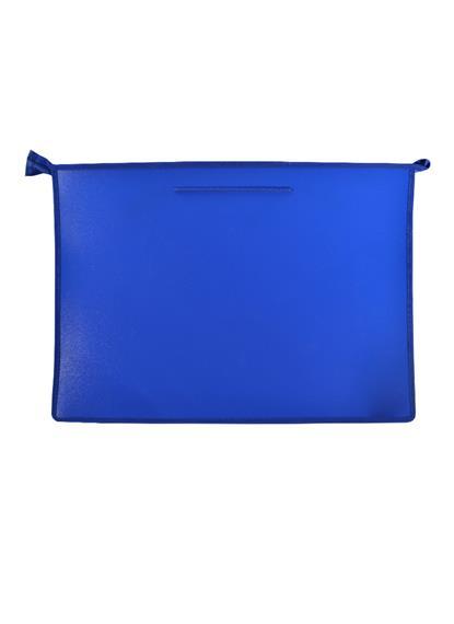 Папка на молнии А3 для бумаг пластик, с ручками, синяя, Спейс
