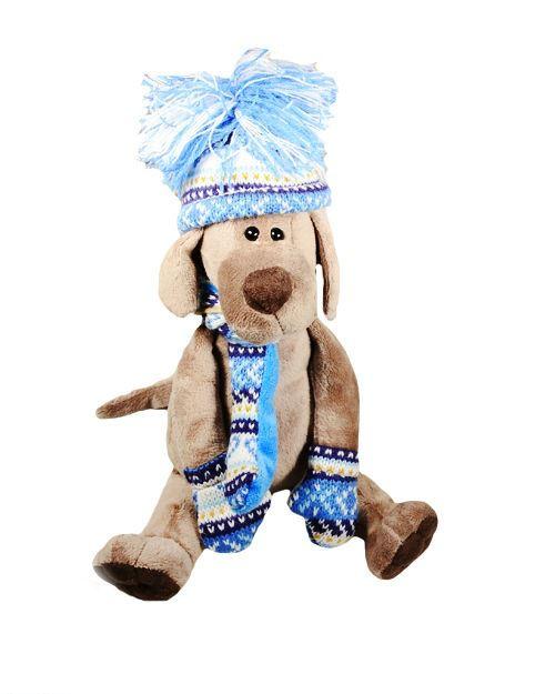 Мягкая игрушка Пёс Барбоська в шапочке (20 см) (OS075/20А)