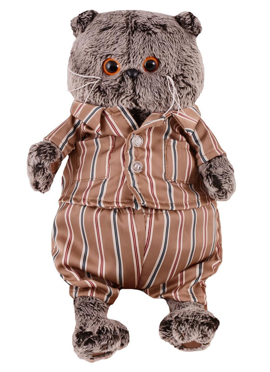 Мягкая игрушка Басик в шелковой пижамке (22 см)