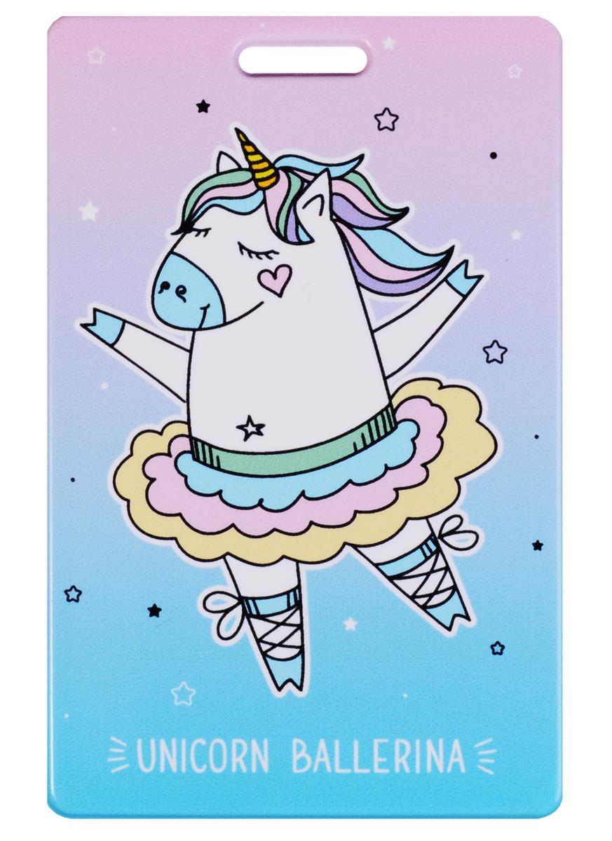 Чехол для карточек Unicorn ballerina фиолетовый градиент