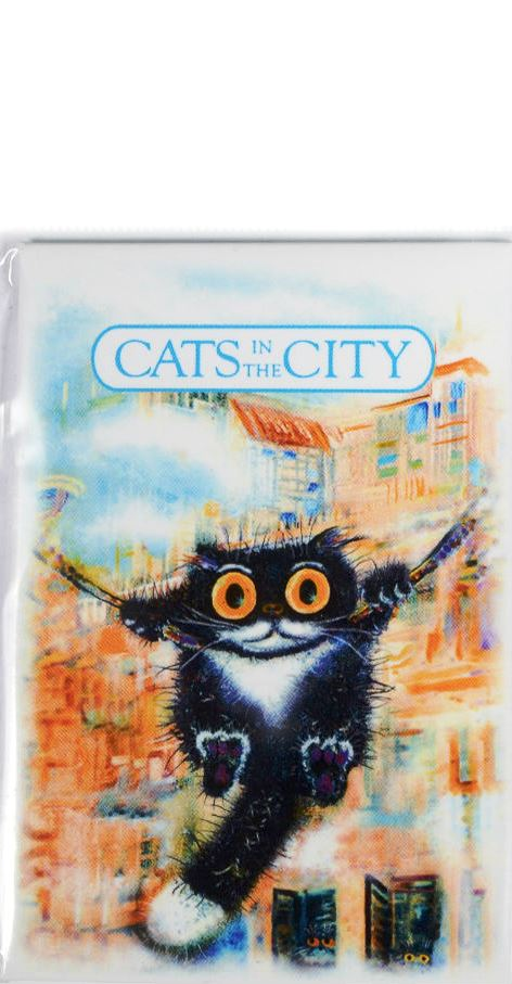 """Магнит """"Cats in the City: Качели"""""""