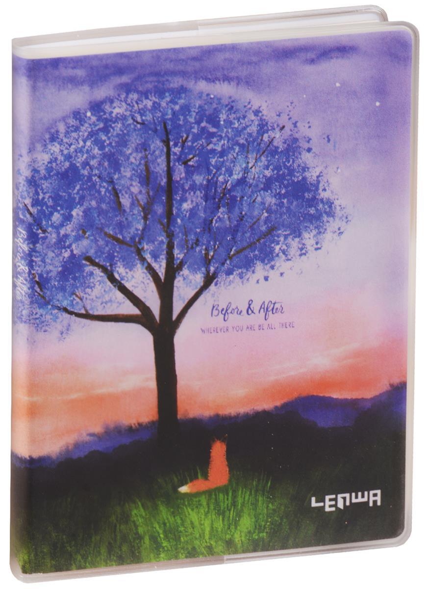 """Записная книжка А6 80 листов клетка """"Lonely fox"""""""