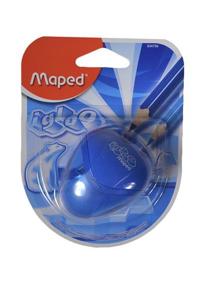 """Точилка 2отв. """"I-Gloo"""" пласт.контейнер, блистер, Maped"""