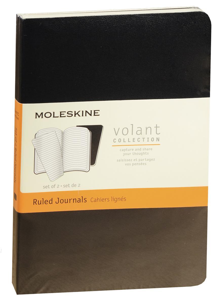 """Записная книжка А6 40л лин. """"Volant Pocket"""" (2шт.) черная, мягкая обложка, Moleskine"""
