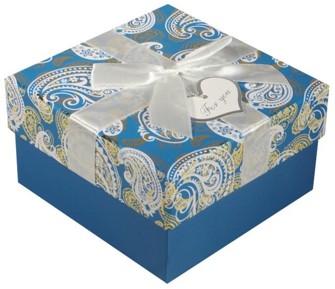 """Коробка подарочная """"Белые огурцы"""" 13*13*7.5см"""