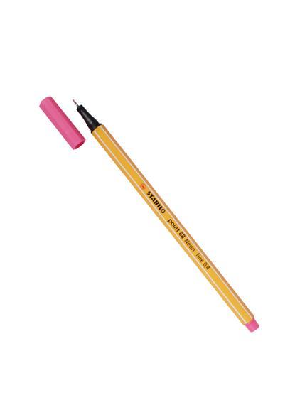 """Ручка капиллярная розовая неон """"Рoint"""" 0,4мм, STABILO"""