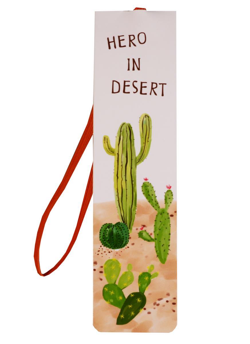 Закладка с резинкой Кактусы Hero in desert