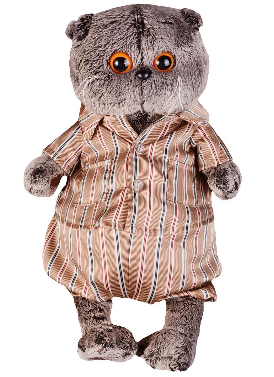 Мягкая игрушка Басик в шелковой пижамке (30 см)