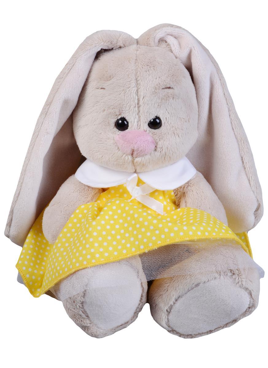Мягкая игрушка Зайка Ми в желтом платье в горошек (15 см)