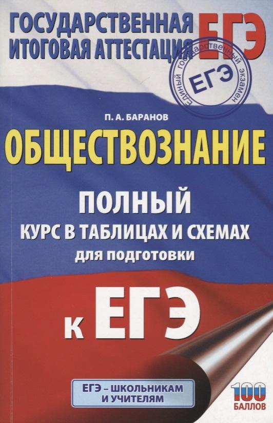Баранов П. ЕГЭ. Обществознание. Полный курс в таблицах и схемах для подготовки к ЕГЭ. 10-11 классы